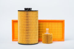 Oil filter for car on white background Royalty Free Stock Photos