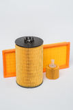 Oil filter for car on white background Royalty Free Stock Photography