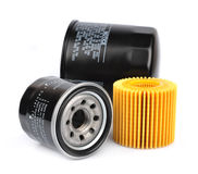 Oil Filter isolated Stock Images