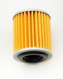 Oil filter part for car on white Stock Image