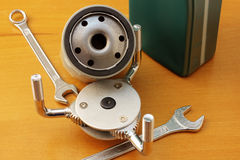 Oil filter wrench stock images