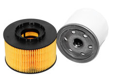 Oil filters. Royalty Free Stock Photography