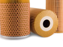 Oil filters Royalty Free Stock Photos
