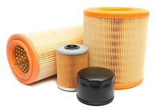 Oil filters Stock Photos