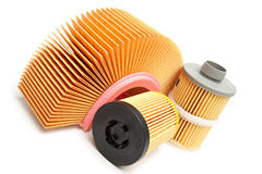 Oil filters Stock Image