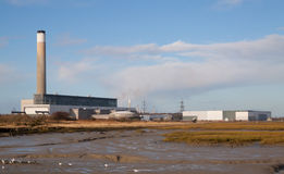 Oil Fired Electricity Power Station. At Fawley on Southampton Water, England Stock Photography