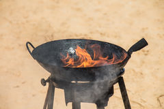 Oil-fired Heat Stock Photo