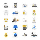 Oil and Flat Color Icons Royalty Free Stock Image