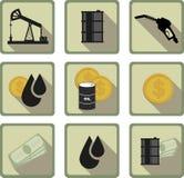 Oil flat icon Royalty Free Stock Photos