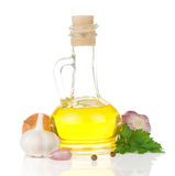 Oil and food ingredients Stock Photo