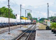 Oil freight train Stock Photos
