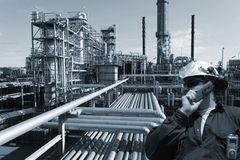 Oil, fuel, gas and engineer Stock Photography