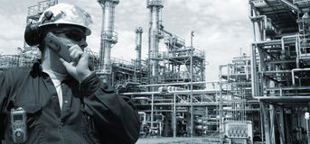 Oil, fuel and industry, power and energy Royalty Free Stock Photos