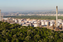 Oil Fuel Refinery Tanks Stock Images