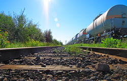 Oil and fuel transportation by rail Royalty Free Stock Photo