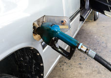 Oil fueling to car Royalty Free Stock Photography