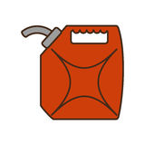 Oil galon isolated icon Royalty Free Stock Image