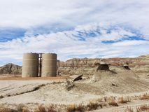 Oil and gas above ground tank battery. Royalty Free Stock Photo