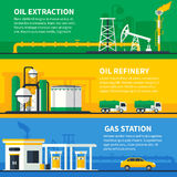 Oil Gas Banners Set Stock Photo