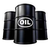 Oil and gas barrels and drums symbol. Oil and gas Oil and gas barrels and drums symbol representing the concept of energy and traditional fossil fuel for car and Stock Photography