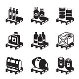 Oil, gas and chemical products Stock Image