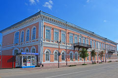 Oil and gas college in ancient mansion of the adviser Yakunchikov in the centre of Kasimov city, Russia. Oil and gas college on Sovietskaya street in Kasimov Stock Images