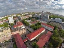 Oil and gas college, Gazprom building. Tyumen Stock Photo