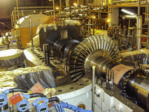 Oil and gas compressor internals Royalty Free Stock Image