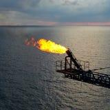 Oil&gas de la llamarada Foto de archivo