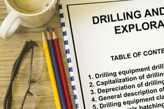 Oil and gas drilling equipment Stock Photos