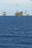 Oil and gas drilling platform Stock Image