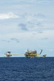 Oil and gas drilling platform Royalty Free Stock Image