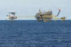 Oil and gas drilling platform Stock Images