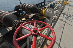 Oil and gas drilling platforms Stock Photo