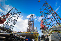 Oil and gas drilling rig Stock Photos