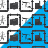 Oil, gas and electric power industry. Seamless pattern backgroun Stock Photography