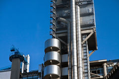 Oil gas energy chemical rafinery. Oil gas energy steel chemical rafinery tower with blue sky Stock Photography