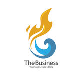 Oil, gas, energy and fire  concept logo. Elegant and modern concept of oil and gas energy illustrator logo concept Stock Photo