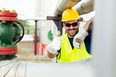 Oil and gas engineer. Young Oil and gas engineer stock photo