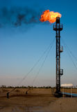 Oil gas flare. With sign stock photography