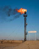 Oil gas flare Stock Images