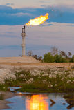 Oil gas flare Royalty Free Stock Images