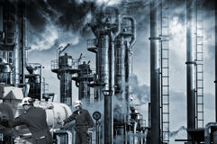 Oil, gas, fuel and industry workers Stock Images