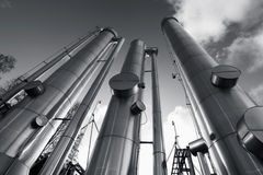 Oil, gas and fuel pipes Stock Photo