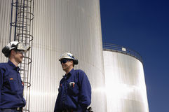 Oil, gas, fuel and workers Stock Photography