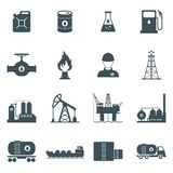 Oil and gas icon set. Oil and gas industry icon set. oil drilling, refining, production, transportation and storage process.  on white background. vector Stock Photo