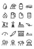 Oil & Gas Icons. Set of 20 outline vector icons of oil and gar industry items Stock Images