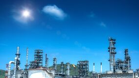 Panorama view at refinery plant  industrial