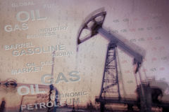 Oil and gas industry background. Royalty Free Stock Photo