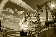 Oil and gas industry engineer. Stock Photo
